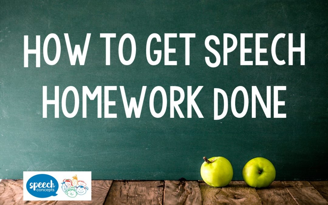 How to get Speech Homework Done