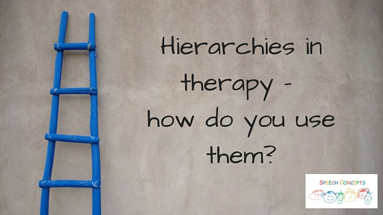 Hierarchies in Speech Therapy