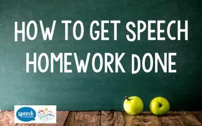 How to get Speech Homework Done