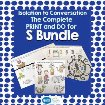 Articulation - Isolation to Conversation - S Bundle