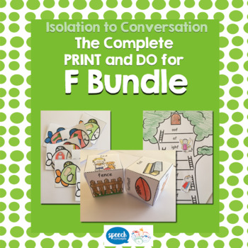 Articulation - Isolation to Conversation - F Bundle
