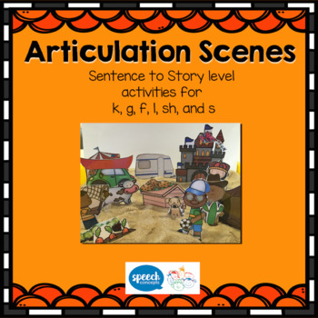 Articulation Scenes- Sound loaded Scenes for sentences and generalisation.