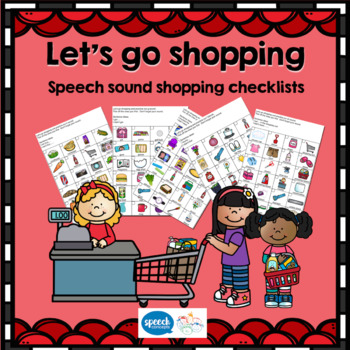 Let's go shopping - Shopping I Spy for Articulation Homework